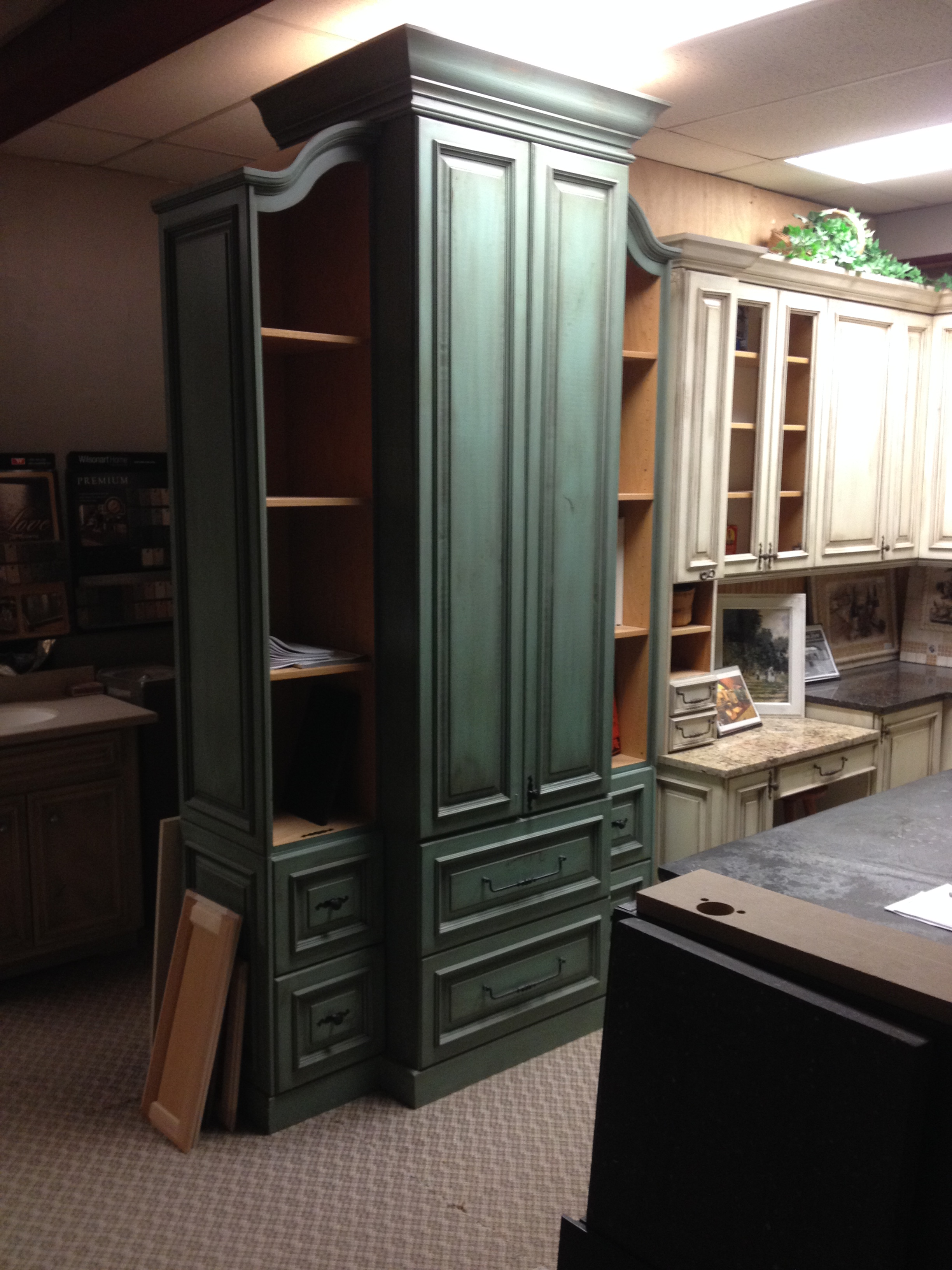 The Curved Top Sections On The Amoire Flanking Cabinets Are A Bear To Make  And Quite Expensive To Produce But Few Shops In Oklahoma Are Capable Of  Producing ...